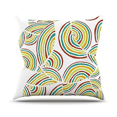KESS InHouse Rainbow Sky Throw Pillow; 16'' H x 16'' W