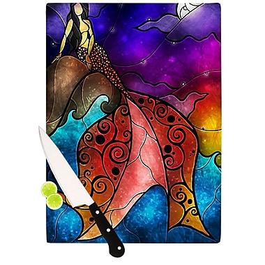 KESS InHouse Fairy Tale Little Mermaid Cutting Board; 11.5'' H x 15.75'' W x 0.15'' D