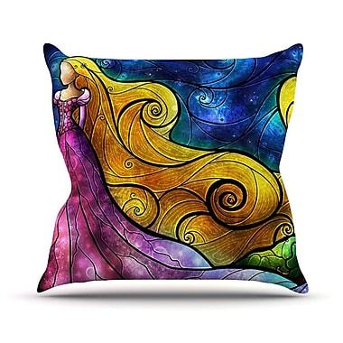 KESS InHouse Starry Lights Outdoor Throw Pillow; 16'' H x 16'' W x 3'' D