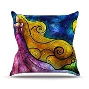KESS InHouse Starry Lights Outdoor Throw Pillow; 20'' H x 20'' W x 4'' D