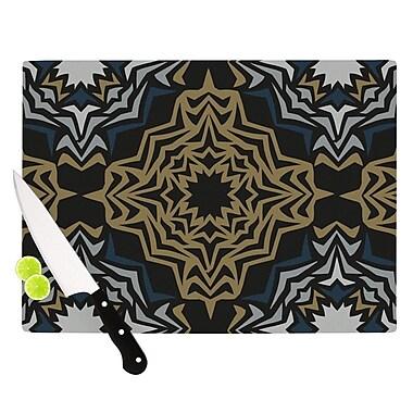 KESS InHouse Golden Fractals Cutting Board; 11.5'' H x 15.75'' W x 0.15'' D