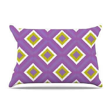 KESS InHouse Purple Splash Tile Pillow Case; Standard