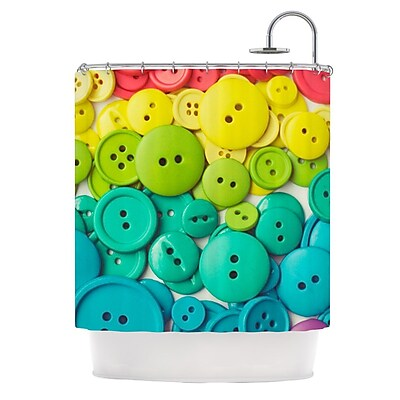 KESS InHouse Cute As A Button Shower Curtain