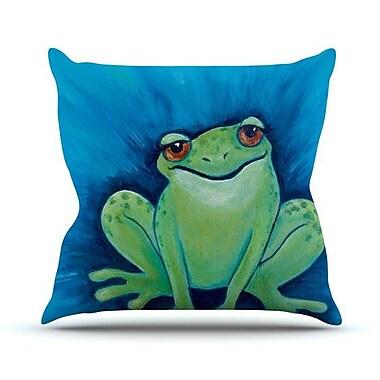KESS InHouse Ribbit Ribbit Throw Pillow; 18'' H x 18'' W