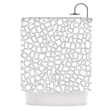 KESS InHouse British Shower Curtain; Mosaic