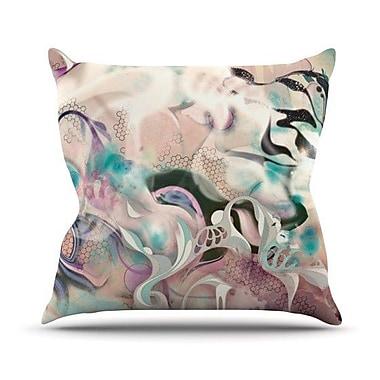 KESS InHouse Fluidity Throw Pillow; 18'' H x 18'' W