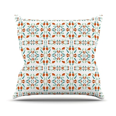 KESS InHouse Italian Kitchen Orange Throw Pillow; 26'' H x 26'' W