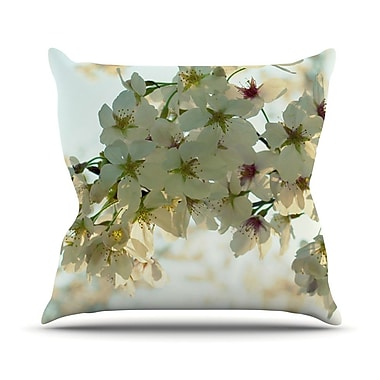 KESS InHouse Cherry Blossoms Throw Pillow; 18'' H x 18'' W