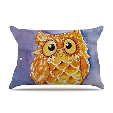 KESS InHouse Little Hoot Pillow Case; Standard