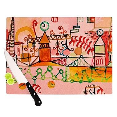 KESS InHouse Happy Town Cutting Board; 11.5'' H x 15.75'' W x 0.15'' D