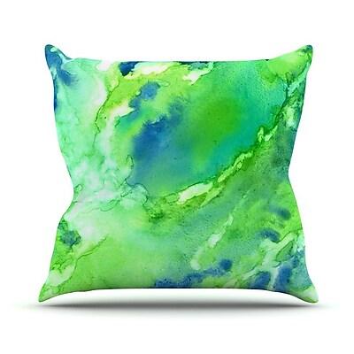 KESS InHouse Touch of Blue Throw Pillow; 16'' H x 16'' W