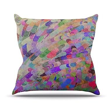 KESS InHouse Abstract Throw Pillow; 18'' H x 18'' W