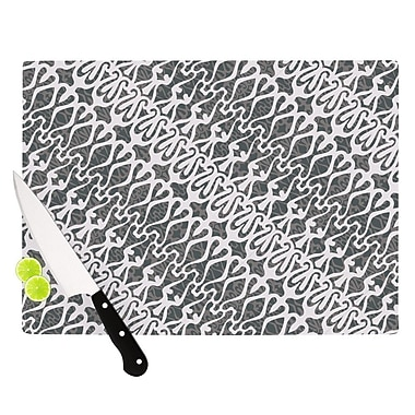 KESS InHouse Silver Lace Cutting Board; 8.25'' H x 11.5'' W x 0.25'' D