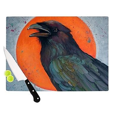 KESS InHouse Raven Sun Cutting Board; 8.25'' H x 11.5'' W x 0.25'' D