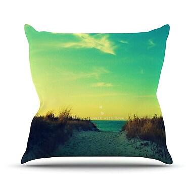 KESS InHouse Walk w/ Love Throw Pillow; 18'' H x 18'' W