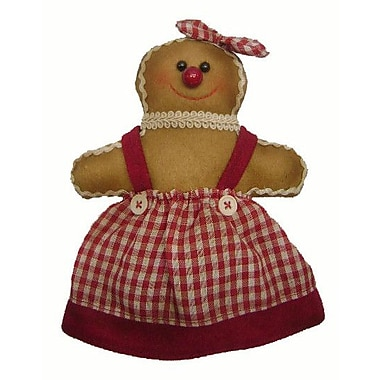 Craft Outlet Gingerbread Woman Collectible Doll