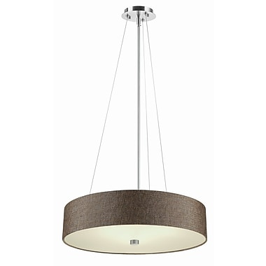 Philips Chelsea Drum Pendant; Brown
