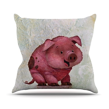 KESS InHouse This Little Piggy Throw Pillow; 16'' H x 16'' W