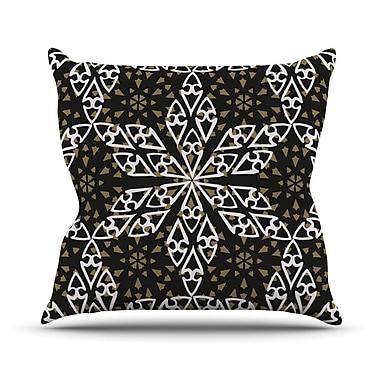 KESS InHouse Ethnical Snowflakes Throw Pillow; 20'' H x 20'' W