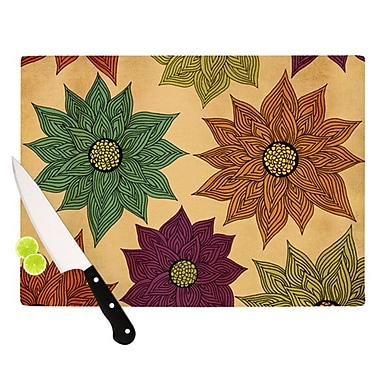 KESS InHouse Color Me Floral Cutting Board; 8.25'' H x 11.5'' W x 0.25'' D