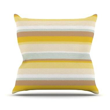 KESS InHouse Desert Stripes Throw Pillow; 18'' H x 18'' W