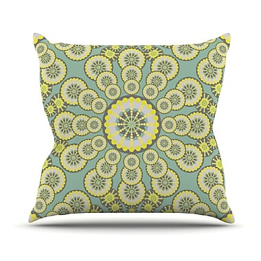 KESS InHouse Equinox Throw Pillow; 26'' H x 26'' W