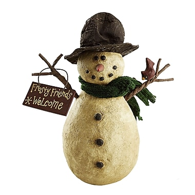 Craft Outlet Collectible Frosty Friends Welcome Snowman