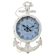 Cape Craftsmen Metal and Wood Anchor Clock