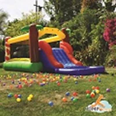 JumpOrange Rainforest Waterfall Water Slide and Bounce House w/ 100pct PVC