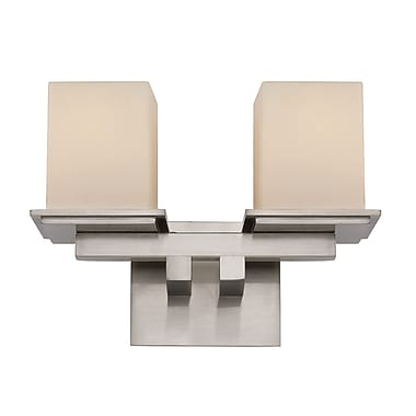 TransGlobe Lighting Downtown 2-Light Square Wall Sconce; Polished Chrome
