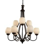TransGlobe Lighting Clarissa 9 Light Chandelier