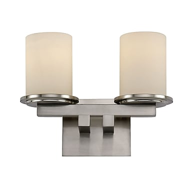 TransGlobe Lighting Downtown 2-Light Round Wall Sconce; Polished Chrome