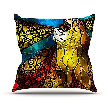KESS InHouse What Child Is This Throw Pillow; 18'' H x 18'' W