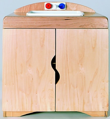 Korners Furniture Sink Portable 2 Compartment Classroom Cabinet w/ Doors