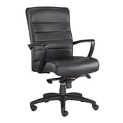 Eurotech Seating Manchester Leather Desk Chair; Black