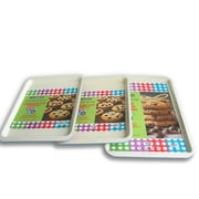 Casaware 3 Piece Cookie Sheet Set; Blue