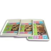 Casaware 3 Piece Cookie Sheet Set; Purple