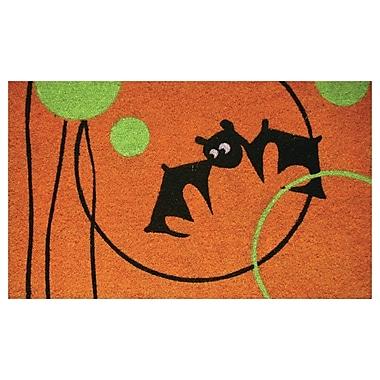 Robert Allen Home and Garden Circle Bat Doormat