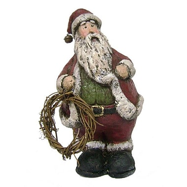 Craft Outlet Antique Snowman Holding Wreath