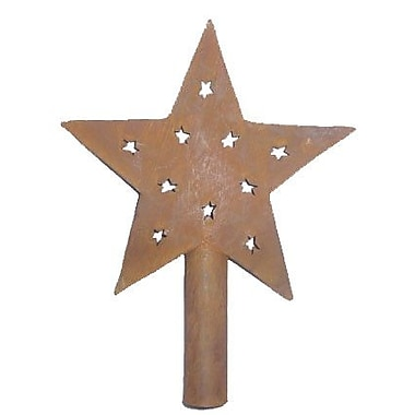Craft Outlet Tree Topper; Rusty
