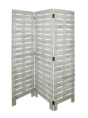 Screen Gems 72'' X 63'' Horizontal Wooden 3 Panel Room Divider
