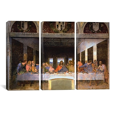 iCanvas The Last Supper by Leonardo da Vinci Painting Print on Canvas; 60'' H x 90'' W x 1.5'' D