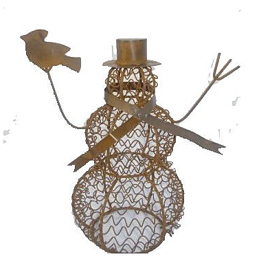 Craft Outlet Wire Mesh Snowman Collectible