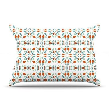 KESS InHouse Italian Kitchen Orange Pillow Case; Standard