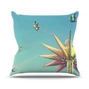 KESS InHouse Flying Chairs PThrow Pillow; 18'' H x 18'' W