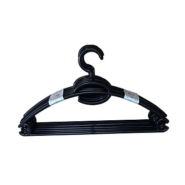 Home Basics Plastic Hanger (Set of 10); Black