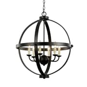 TransGlobe Lighting Old World Sphere 6-Light Globe Pendant