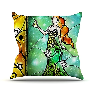 KESS InHouse Fairy Tale Froq prince Throw Pillow; 16'' H x 16'' W