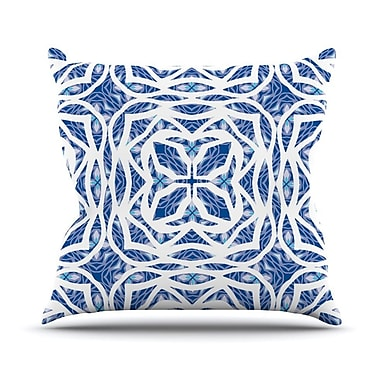 KESS InHouse Blue Explosion Throw Pillow; 20'' H x 20'' W
