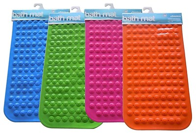 Home Basics Rubber Bath Mat; Orange WYF078277539782